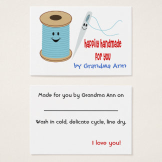 Happily Handmade Hang Tag Business Card