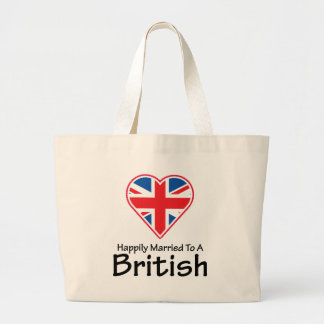 Happily Married British Large Tote Bag