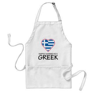 Happily Married Greek Standard Apron
