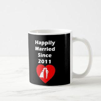 Happily Married Since 2011 Coffee Mug