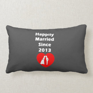 Happily Married Since 2013 Lumbar Cushion
