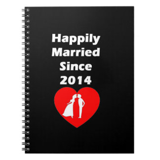 Happily Married Since 2014 Spiral Note Book