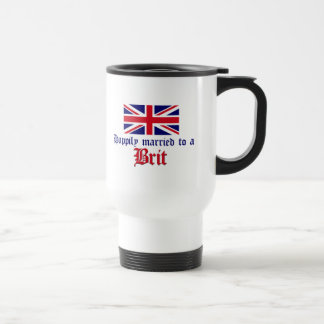 Happily Married To A Brit Travel Mug