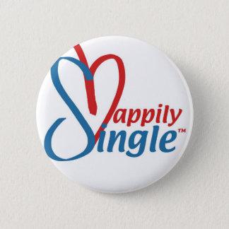 HappilySingle™ 6 Cm Round Badge