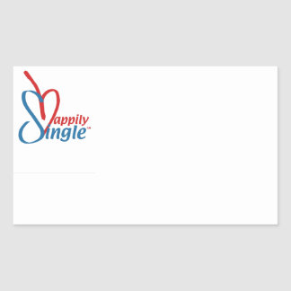 HappilySingle™ Rectangular Sticker