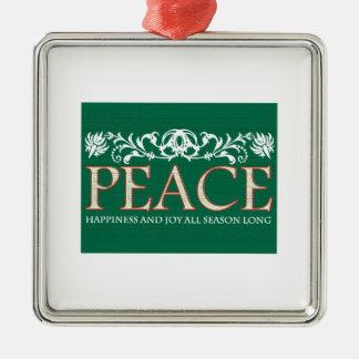 Happines And Joy Christmas Tree Ornaments