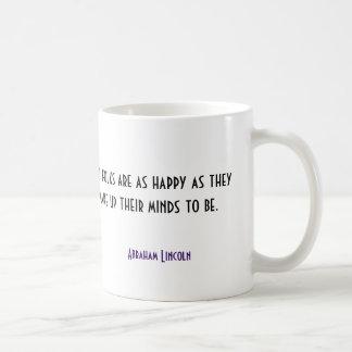 Happiness Abraham Lincoln Quote Mug
