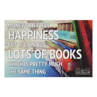 Happiness and Books Poster