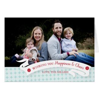 Happiness And Cheer Holiday Photo Greeting Card