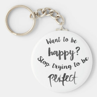 Happiness Attitude Life Success Confidence Quote Key Ring