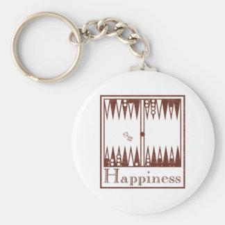 Happiness: Backgammon Key Ring