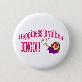 Happiness Bingo 6 Cm Round Badge
