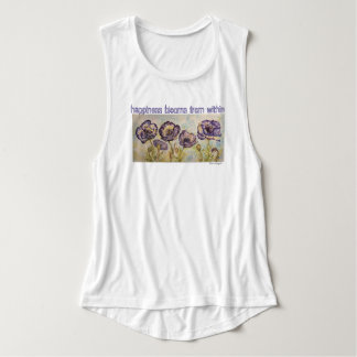Happiness Blooms Watercolor Poppies Tank Top