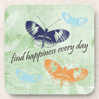 Happiness Butterflies Drink Coasters