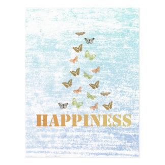 Happiness Butterflies Postcard