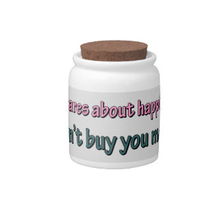 HAPPINESS CAN'T BUY MONEY CANDY DISH