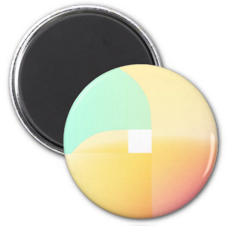Happiness circle 6 cm round magnet