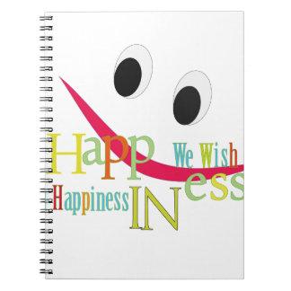 happiness design notebook