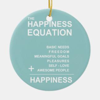 Happiness Equation Ceramic Ornament