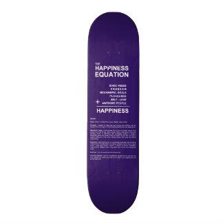 Happiness Equation Custom Skate Board