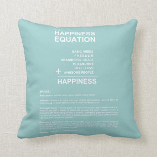 Happiness Equation Throw Cushions