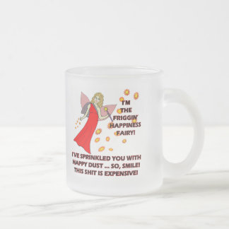 Happiness Fairy T-shirts Gifts Frosted Glass Coffee Mug
