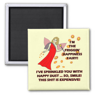 Happiness Fairy T-shirts Gifts Square Magnet