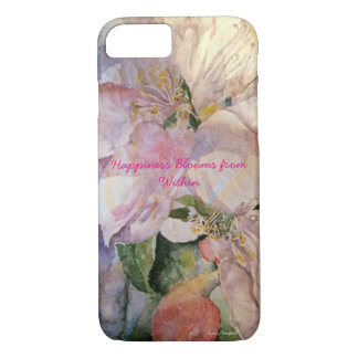 Happiness Floral Watercolor Art Phone Case