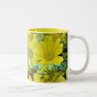 'Happiness' Flower Mug