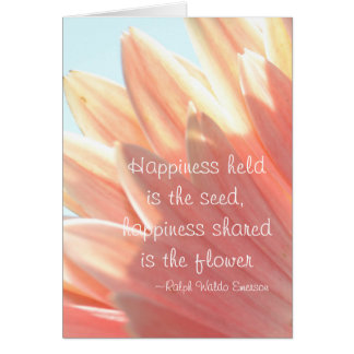 Happiness Held is the Seed Greeting Card