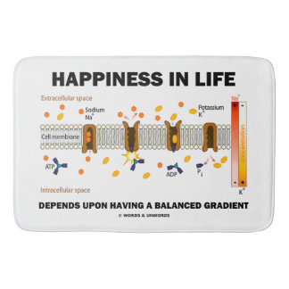 Happiness In Life Depends Upon Balanced Gradient Bath Mat