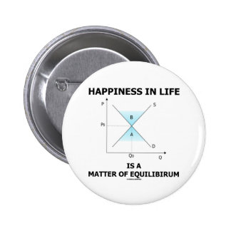 Happiness In Life Is A Matter Of Equilibrium 6 Cm Round Badge