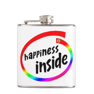 Happiness Inside Hip Flask