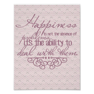 Happiness Inspirational Poster