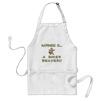 Happiness Is A Biker Beaver Standard Apron