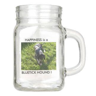 Happiness is a Bluetick hound ! Mason Jar