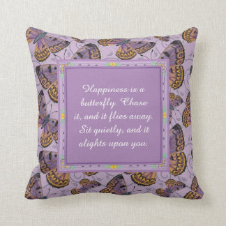 Happiness is a Butterfly: Boulder Copper Butterfly Throw Pillow