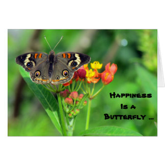 Happiness is a Butterfly (Common Buckeye 2470) Card