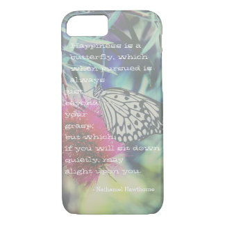 Happiness is a Butterfly - Inspiring Quote iPhone 8/7 Case