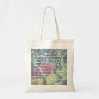 Happiness is a Butterfly - Inspiring Quote Tote Bag