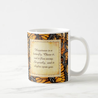 Happiness is a Butterfly: Monarch Butterfly Coffee Mug