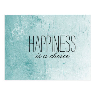 Happiness is a Choice Postcard