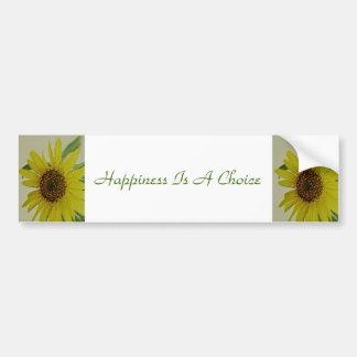 Happiness Is a Choice Sunflower Bumper Sticker
