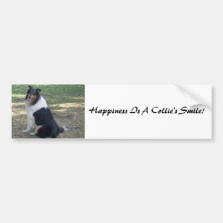 Happiness Is A Collie's Smile! Bumper Sticker