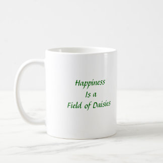 Happiness is a Field of Daisies Basic White Mug