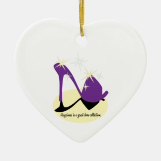 Happiness Is A Great Shoe Collection Ceramic Heart Decoration