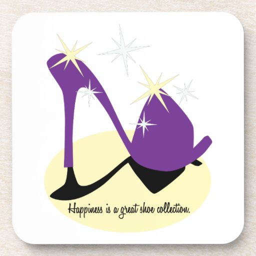 Happiness Is A Great Shoe Collection Drink Coasters