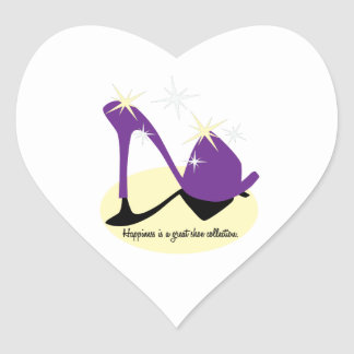 Happiness Is A Great Shoe Collection Heart Sticker
