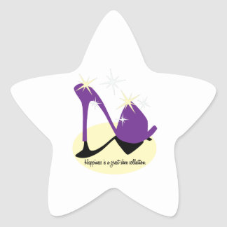 Happiness Is A Great Shoe Collection Star Sticker
