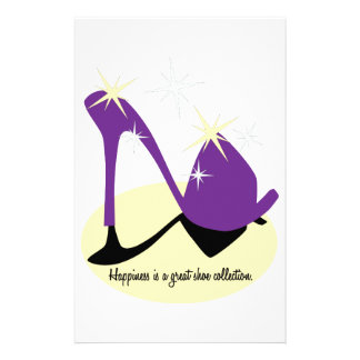 Happiness Is A Great Shoe Collection Personalized Stationery